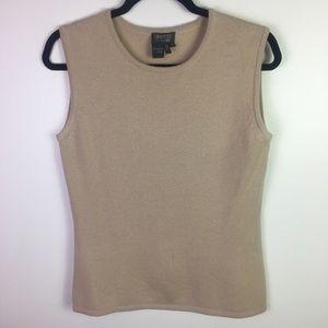 Lafayette 148 100% Cashmere Sleeveless Sweater